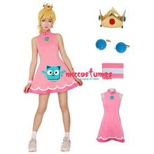 Mario Tennis Princess Peach Cosplay Costume Dress