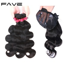 Body Wave Human Hair Wig Bundles With 4*4 Lace Closure Cap New Design 100% Human Hair Wigs For Women Fast Shipping FAVE Hair