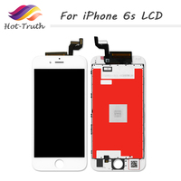 Hot Truth 100Pcs/Lot LCD Display For iPhone 6s Screen Replacement + Digitizer Assembly with Frame 4.7 Cellphone Screen AAA
