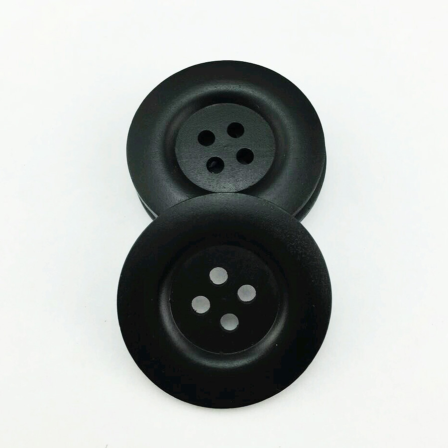 8PCS <font><b>50MM</b></font> BLACK painting Wood color wooden <font><b>buttons</b></font> boots coat sewing clothes accessory MCB-889-1 image