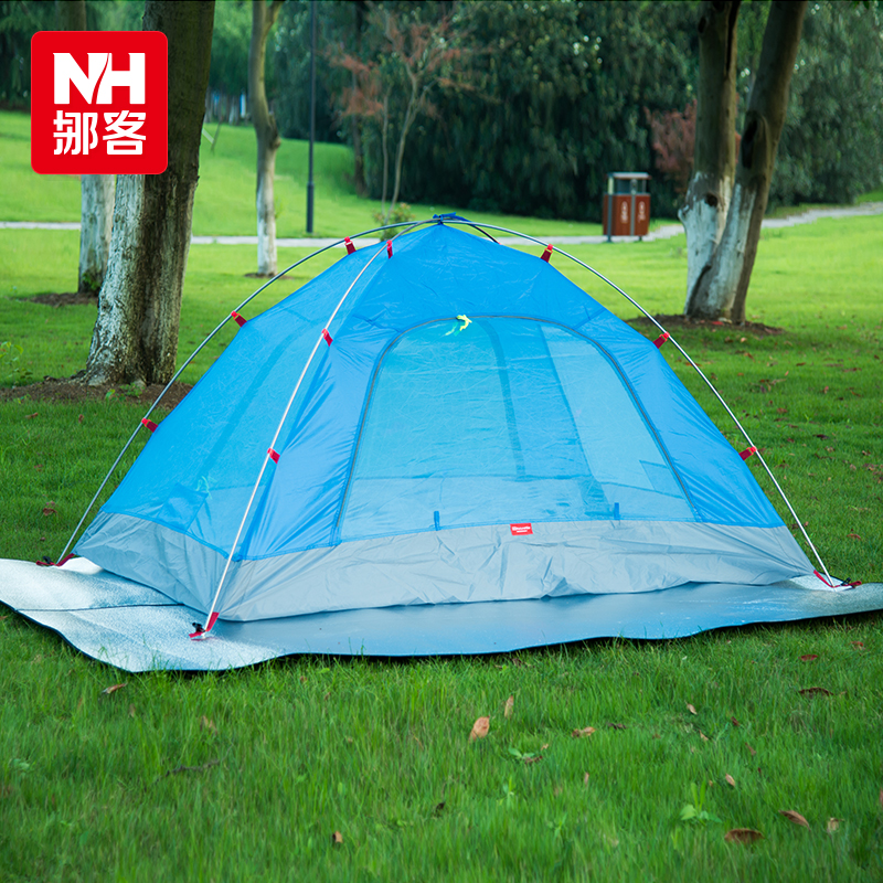 NH Outdoor picnic mat Thicken Non slip mat 200x200cm Double sided aluminum foil C&ing mats Tent mat-in C&ing Mat from Sports u0026 Entertainment on ... : tent aluminum foil - memphite.com
