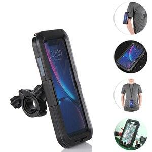 Image 5 - Высококачественный 360 ° водонепроницаемый держатель для телефона на руль велосипедный мотоциклетный чехол для iPhone 5 5s 6 6s 7 8 Plus X XR XS Max