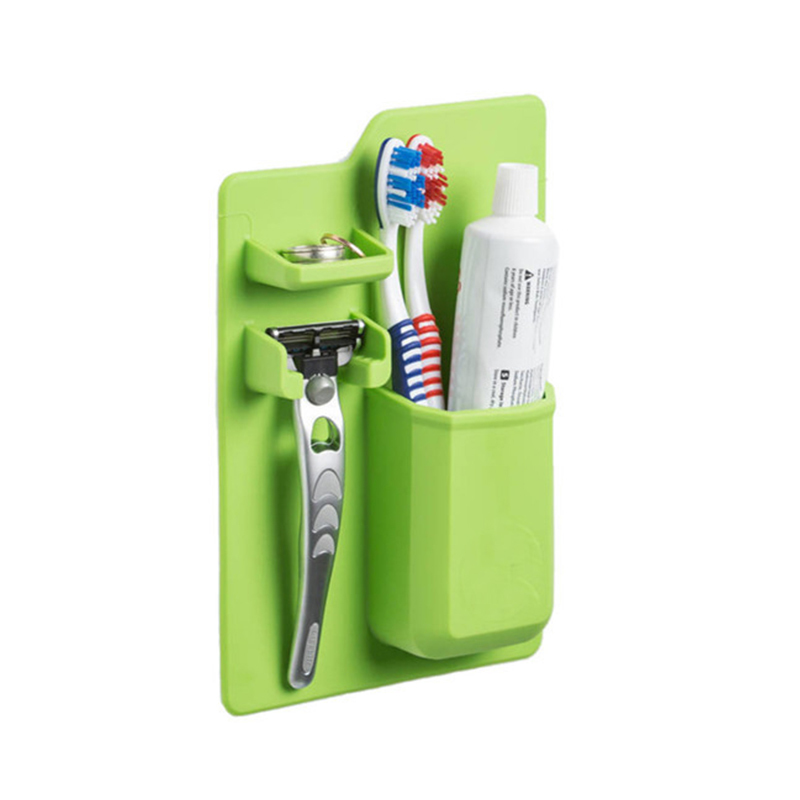 New Hot Silicone Toothbrush Holder Bathroom Product Home Organizer Mighty For Shower Jewelry Cosmetic Toiletries Organizers