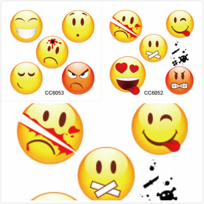 1 Set Verkopen Emoji Gelukkig Eenhoorn Cartoon Sticker Tol Gift Speelgoed Jongen Meisje Kinderen Watermerk Tattoo