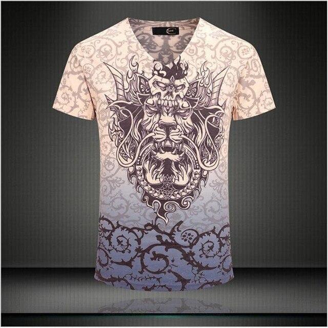 2015 fashion top men summer T shirt casual clothing brand T-shirt men's short sleeve Tops Tees Slim Stretch