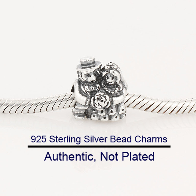 a7b28383b Fits PANDORA Bracelet Charm Beads for Jewelry Making Silver Bride and Groom  Charm 925 Sterling Silver Jewelry Gifts for Women