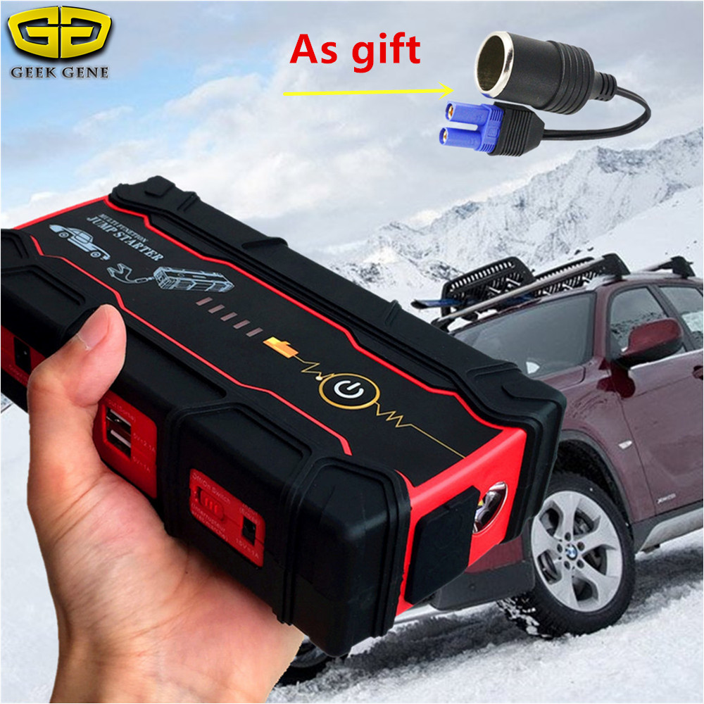 Super Power 18000mAh Car Jump Starter 800A 12V Portable Starting Device Power Bank Car Charger For Car Battery Booster Buster CE
