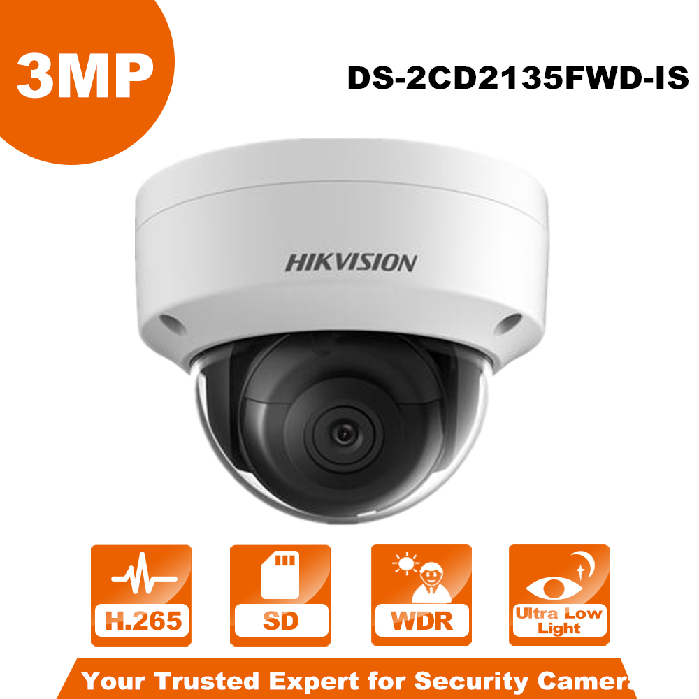 Hikvision DS-2CD2135FWD-IS PoE IP Camera CMOS WDR Network CCTV  Camera Built-in SD Slot replace DS-2CD2135F-IS Dome POE Network