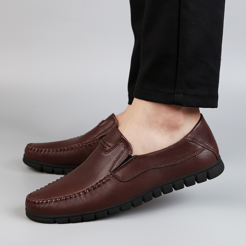 2018 new fashion men's shoes genuine leather breathable loafers man - Men's Shoes - Photo 5