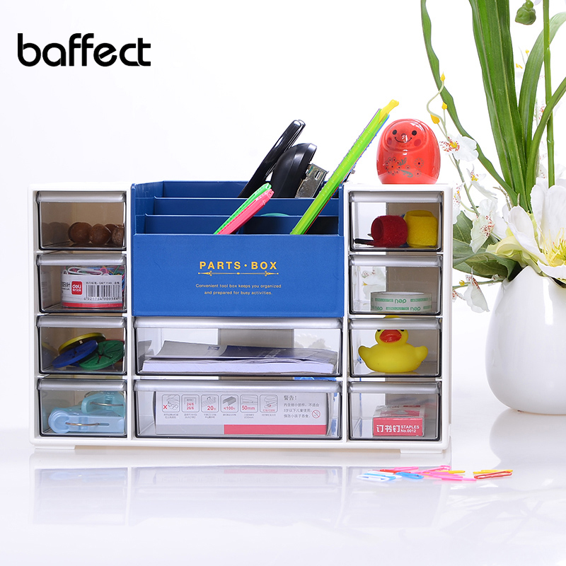 Transparent Drawer Multifunction Creative Desktop Office Supplies Storage Box Plastic Cute Office Cosmetics Organizer HSB193 Коробка