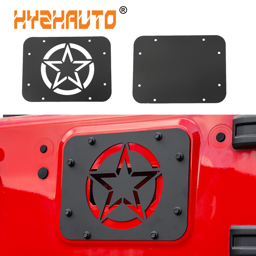 Car Styling Tailgate Air Vent Outlet Decoration for Jeep Wrangler JK 07 16 License Plate Mount