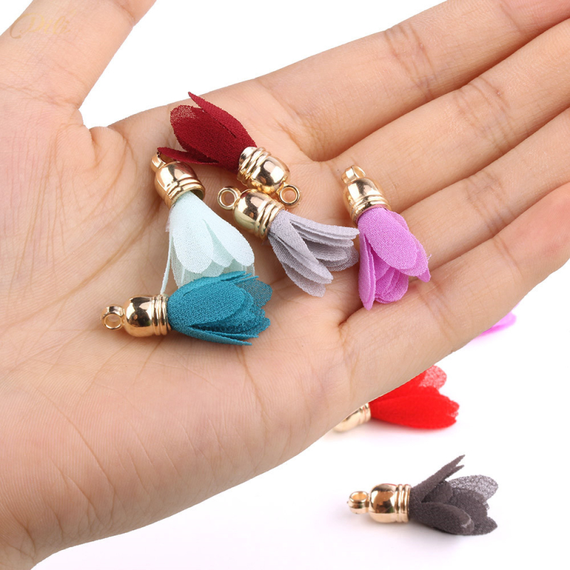 Video Games 30pcs Mini Metal Cap Flower Tassels For Boho Jewelry Diy Craft Making Supplies Bracelet Necklace Earring Finding Accessories Volume Large