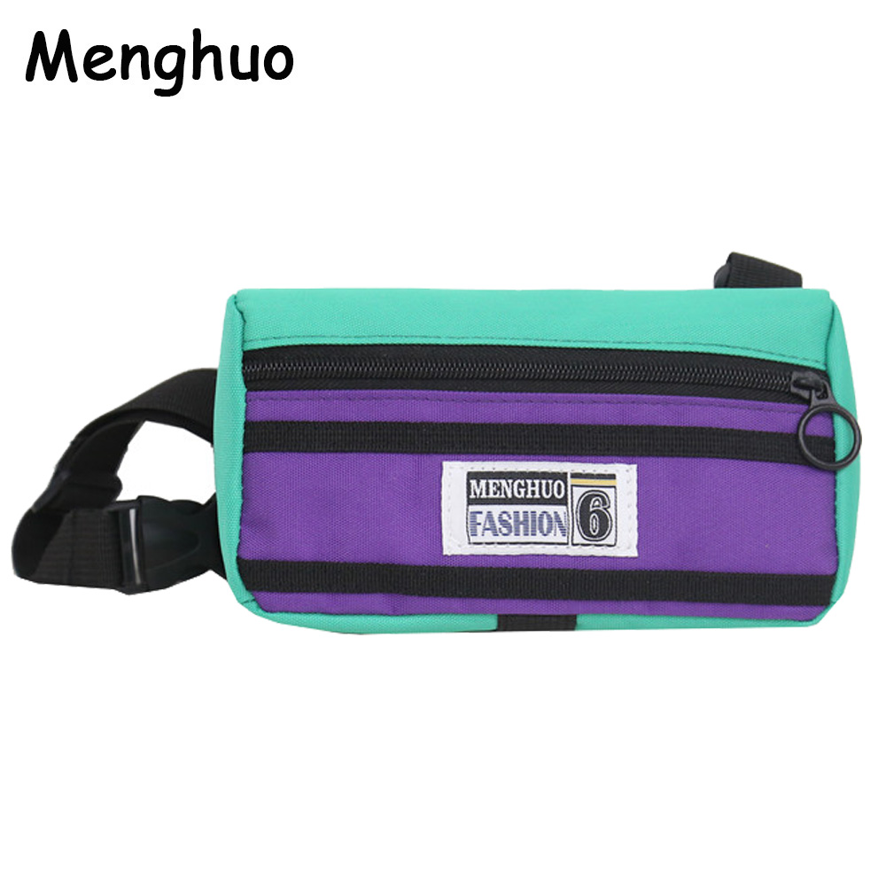 Menghuo Unisex Fanny Pack Belt Bag Panelled Waist Bag Purse Chest Fanny Pack Travel Cashier Belt Hip-hop Rock Boys Girl Bag 2018
