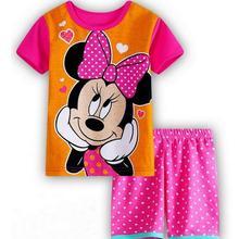 Летние Пижамные комплекты для мальчиков и девочек, детская одежда для сна с короткими рукавами, хлопковая детская пижама, Детская Пижама, Пижама для мальчика, ночная рубашка, домашняя одежда wen76