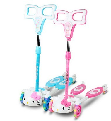 Children's scooter breaststroke swing car baby scissors bike slide block