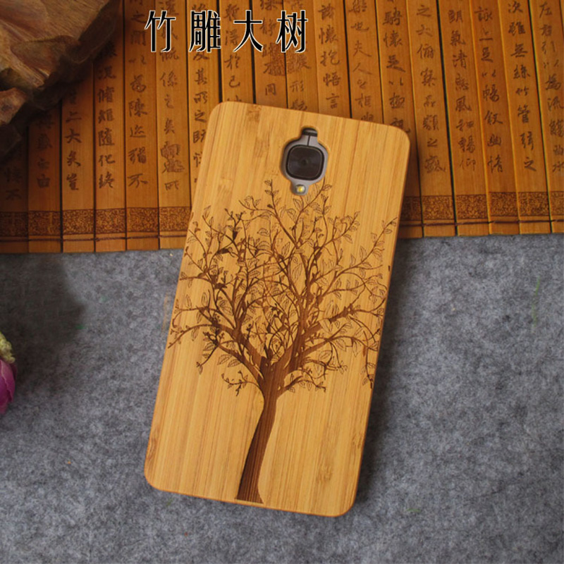 New Oneplus 3t Case oneplus 3 three Cover one plus 3t phone accessories Unquie Wood Bamboo PC Hard Back Protective Shell