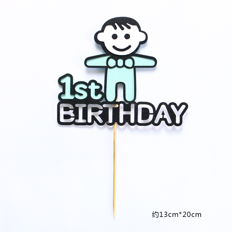 New Arrivals 100 days One Cake Topper 1st Birthday Cake Decoration Baby Shower Party Supplies for Boy Girl One Cupcake Topper in Cake Decorating Supplies from Home Garden