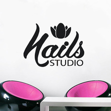 Manicure Pedicure Salon Wall Stickers Removable Nails Salon Wall Art Mural Vinyl Nail Wall Sticker Beauty Salon Wallpaper AY1842