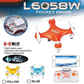 Lishitoys L6058W Bolsillo Mini Drone con Cámara FPV 4CH 6 axis gyro rc helicóptero quadcopter wifi controlado by teléfono móvil juguete