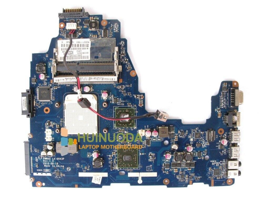 NOKOTION D'origine K000111560 LA-6843P mère d'ordinateur portable pour Toshiba C660 C660D Carte Mère