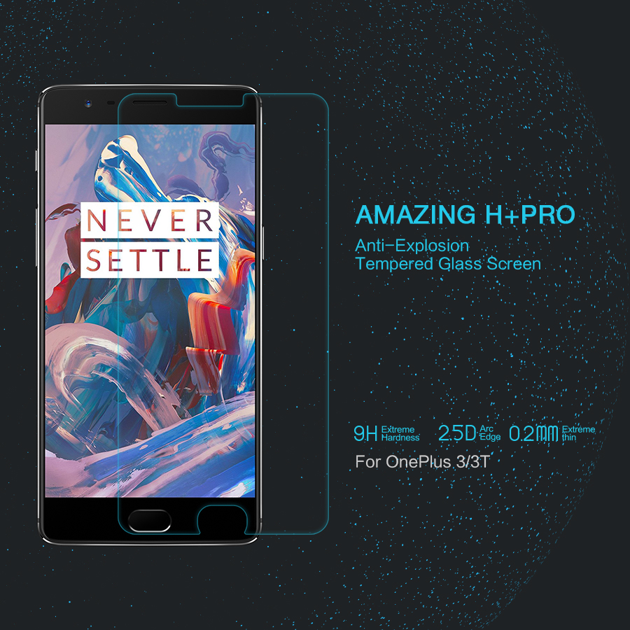 For Oneplus 3t Screen Protector Film Anti Explosion Hd Clear High Mocolo Tempered Glass Asus Padfone S Phone Only Original Nillkin Amazing H Pro 3