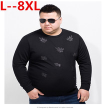 LONGHONGYU 10XL 8XL 6XL 5XL 2018 Spring pullover Loose Fit Thin Mens Knitted Sweaters
