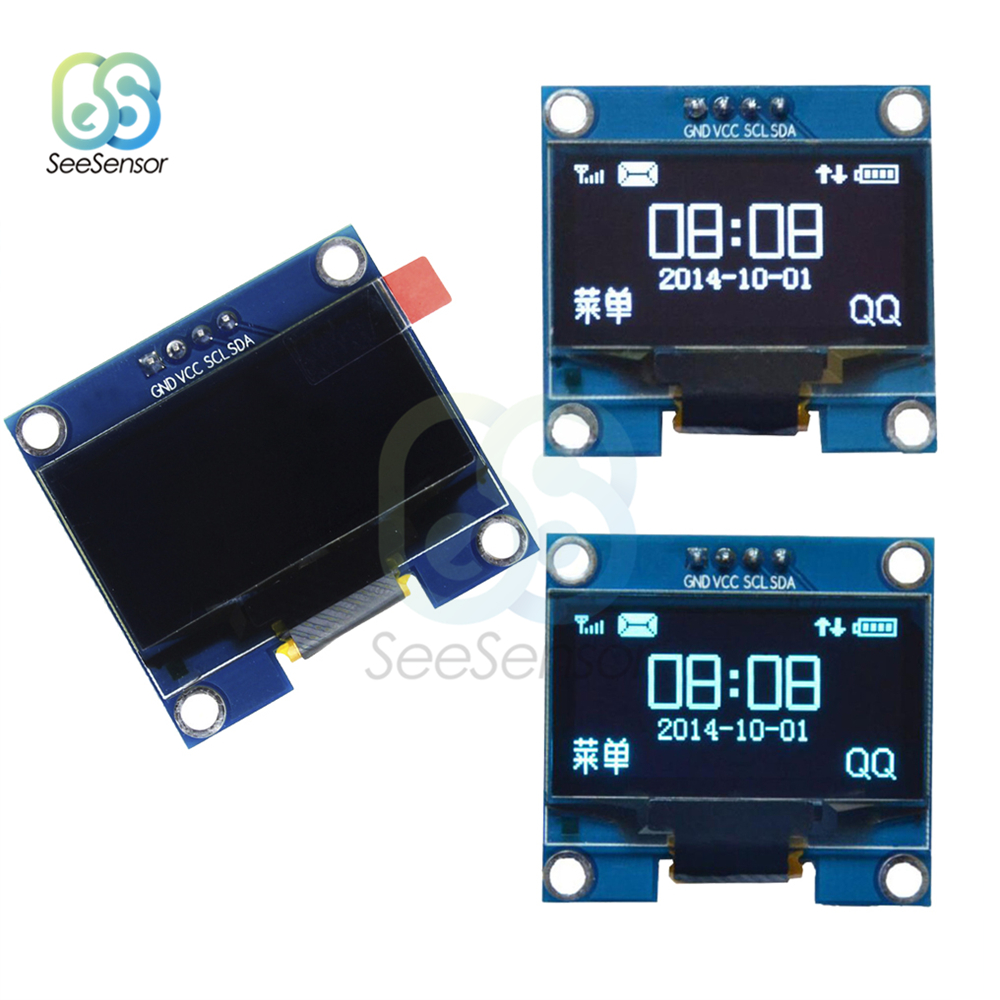 4PIN 1.3 OLED Module White/Blue Screen 128X64 inch LCD LED Display IIC I2C Communicate