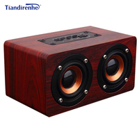 X5 Wooden Speaker Portable Bluetooth PC USB AUX Dual Speakers Stereo Bass Sound Box For Computer