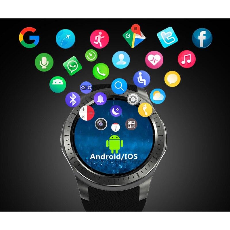 imágenes para Nuevo Reloj Inteligente GW10 SmartWatch Androide GPS WiFi Bluetooth Del Ritmo Cardíaco Rastreador De Fitness Apoyo 3G Tarjeta SIM MTK6572 Inteligente relojes