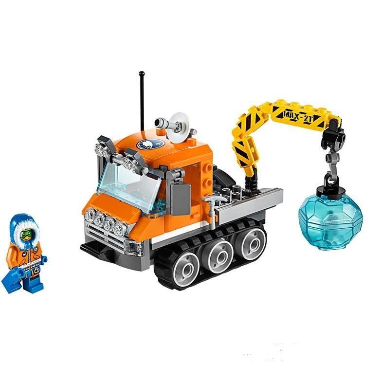 Figures Building Blocks Sets china brand City Arctic Ice Crawler Build  Compatible with Lego 60033 lepin 02012 city deepwater exploration vessel 60095 building blocks policeman toys children compatible with lego gift kid sets