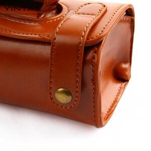 Image 5 - YINTAL manuel tıraş bıçağı taşınabilir tıraş fırça seyahat deri çanta çift kenarlı güvenlik jilet kutusu (sadece 1 kutu)
