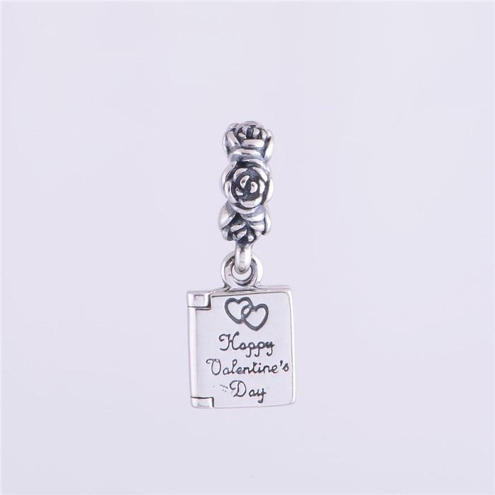4399709a6a44 Auténtica Plata de Ley 925 regalo de San Valentín a mi amor encanto mujeres  joyería DIY plata Pulseras con encanto para las mujeres y hombres