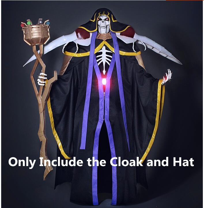Overlord Cosplay Ainz Ooal Gown Cosplay Costume Momonga Cloak With Hat Custom Made/sizing