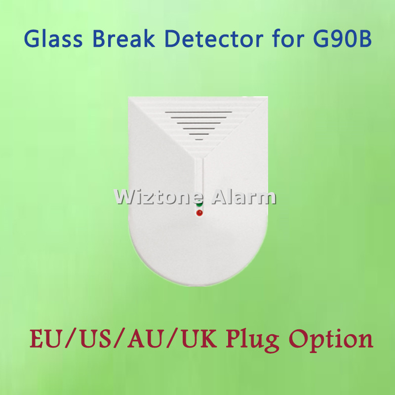 433mhz Wireless Glass Break Sensor Glass Detector For Android IOS APP Controlled WIFI GSM Alarm G90B
