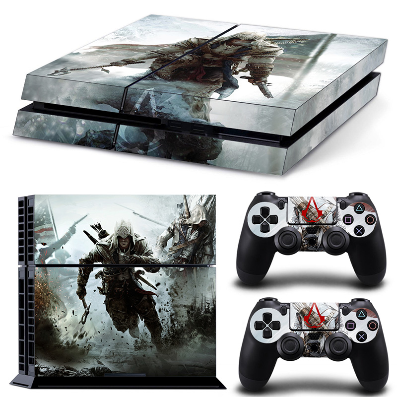Free drop shipping video game skin sticker decals for Sony PS4 Console + 2PCS Controllers Skin Sticker #TN-P4-10242