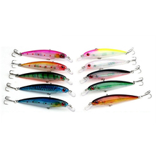 Sizzling 10Pcs/Lot 11cm 13.5g Floating Minnow Fishing Lure Laser Exhausting Synthetic Bait 3D Eyes Fishing Wobblers Crankbait Minnows kits