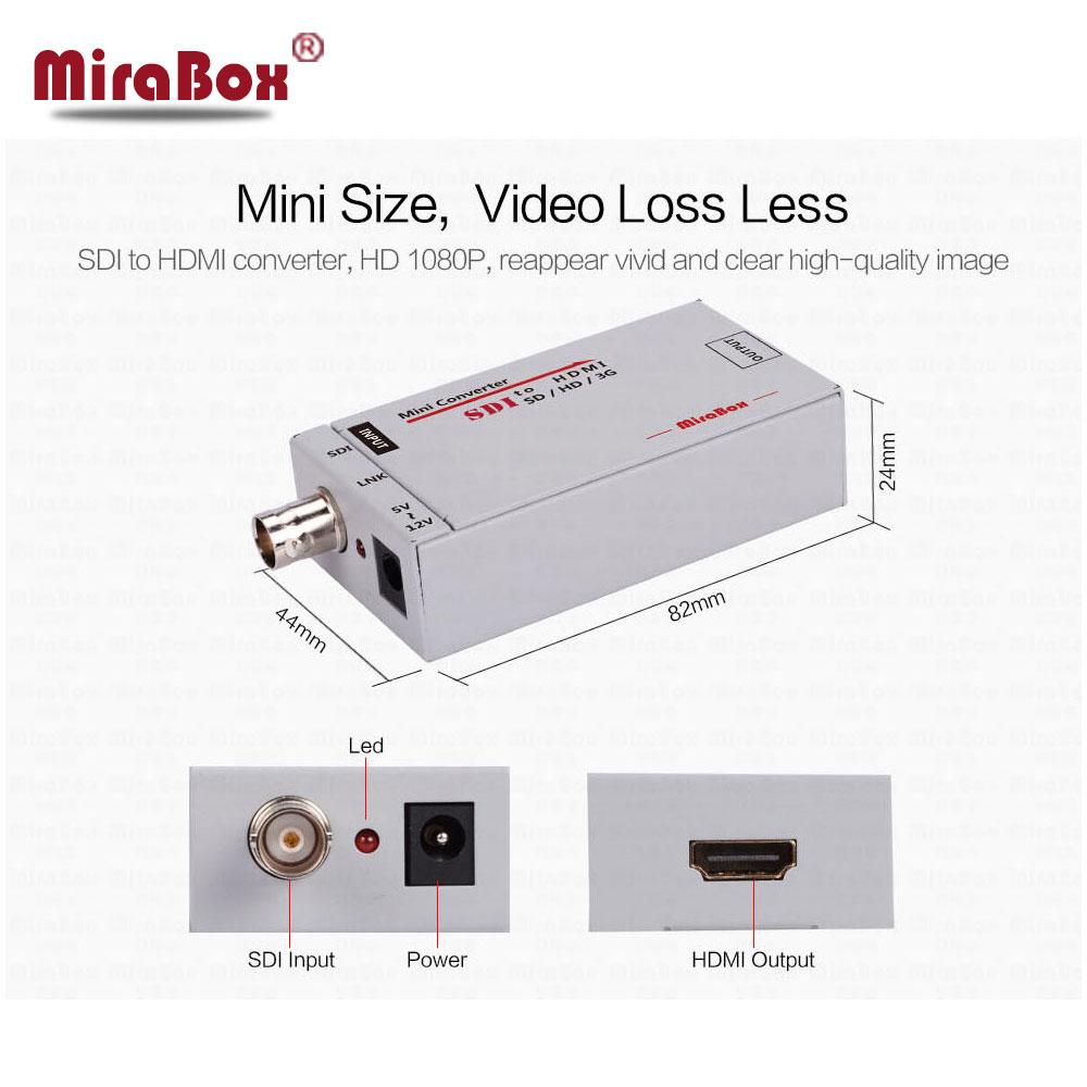 Mini 3G SDI to HDMI Converter HD 1080P SD/HD-SDI/3G-SDI to HDMI Adapter To BNC Multimedia Video Converter Portable Mini Size все цены