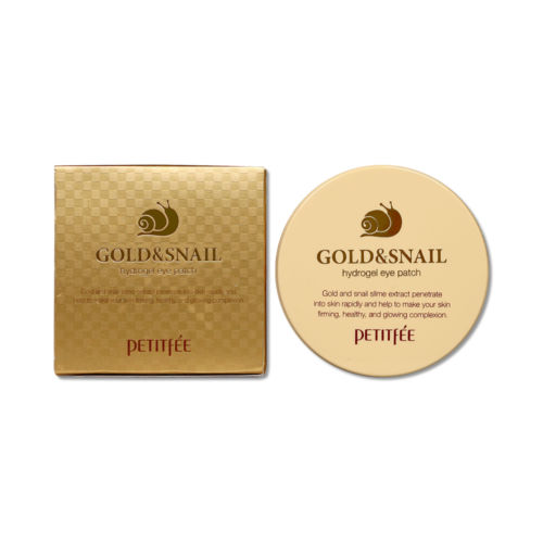 Image 4 - PETITFEE Gold Snail Eye Patch 60pcs Face Care Remove Black Finelines Moisturizing Firming Eye Bags Repair Eye Mask Sleep Masks-in Creams from Beauty & Health