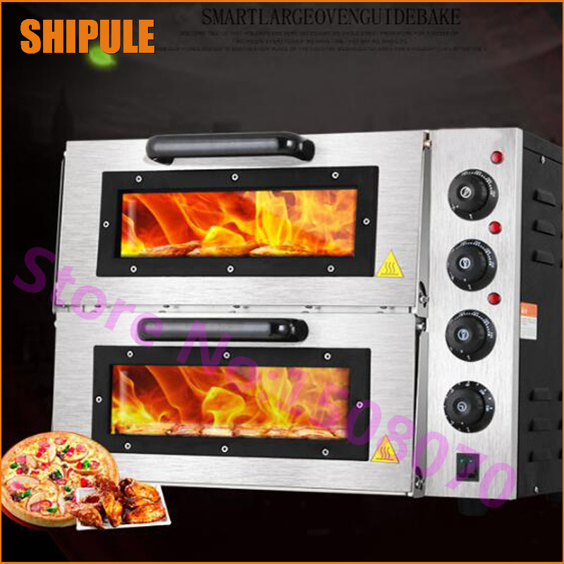 Wholesale products commercial bread baking gas pizza oven industrial electric deck pizza making oven pfml nb400 stainless steel high temperature deck baking pizza oven machine for pizza shop