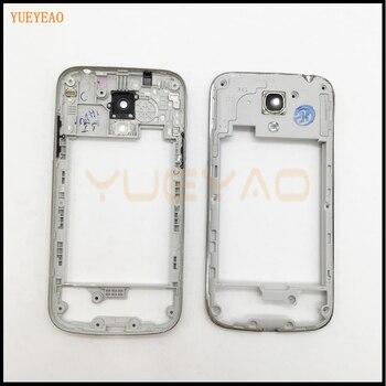 f2e538df316 YUEYAO para Samsung Galaxy S4 Mini I9190 I9192 I9195 chasis medio Placa de  vivienda marco bisel carcasa parte