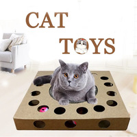 Cat claw board cat toy puzzle box fun toy corrugated paper cat toy box for fun Environmental protection is interesting Hot