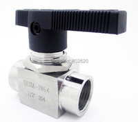 Free Shipping 304 Stainless Steel Ball Valve 1/2 BSPP Female Thread