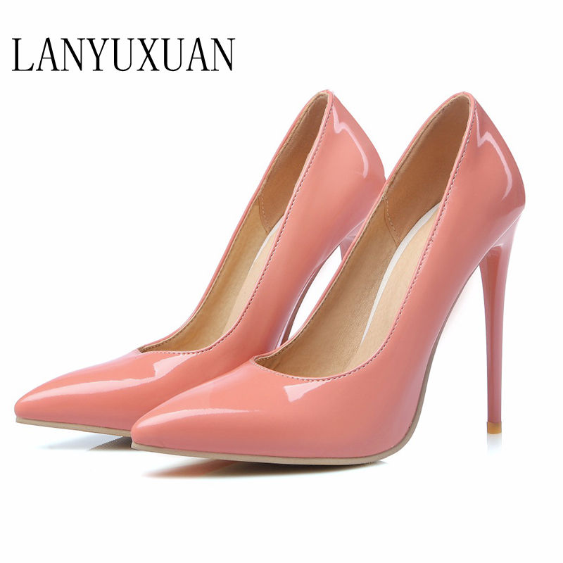 Big Size Sale  34-47 Apricot New Fashion Sexy Pointed Toe Women Pumps Platform Pumps High Heels Ladies Wedding  Party Shoes 8-10 big size sale 34 43 new fashion sexy pointed toe women pumps spring summer autumn high heels ladies wedding party shoes 6629