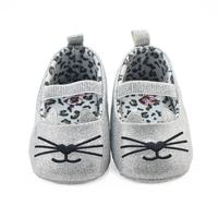 Baby Shoes 2017 Infant Newborn Toddler Baby Cat Pattern Girls Crib Shoes Soft Sole Sneakers D50