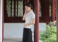 2015 New Stylish Lace Beige Chinese Traditionary Style Women S Girl Casual Shirt Blouse Tops S