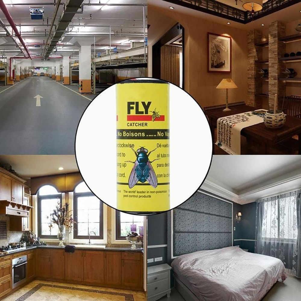 4 ชิ้น Fly กับดักกาวที่มีประสิทธิภาพยุง Fly Killer ม้วน Sticky Fly กระดาษกำจัดแมลงวันแมลงกาวกระดาษแมลง catcher Trap