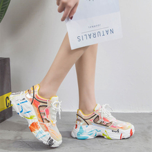 2019 Summer Platform Women Sneakers Breathable Lace Up Casual Shoes Woman Round Toe Low Top Hollow out Women Sandal Shoes XZ154 woman sneakers metallic color woman shoes front lace up woman casual shoes low top rivets embellished platform woman flats brand