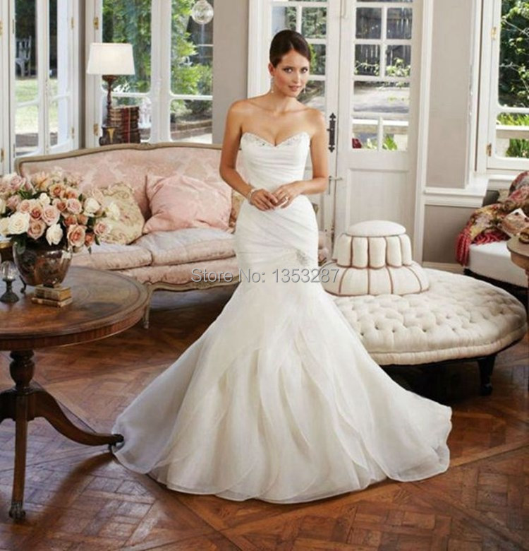 A Line Modest Wedding Dress With Three Quarter Length Sleeves