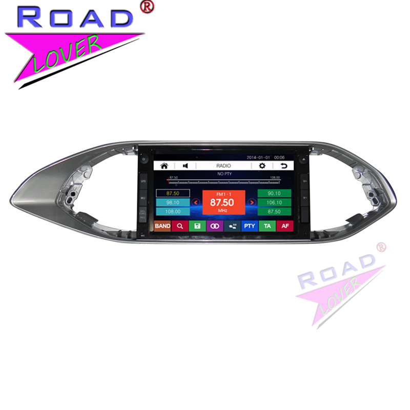 TOPNAVI Wince 6.0 Two Din 8Inch Car Media Center DVD Player For peugeot 308S Stereo GPS Navigation Auto Radio TFT Touch MP3 USB