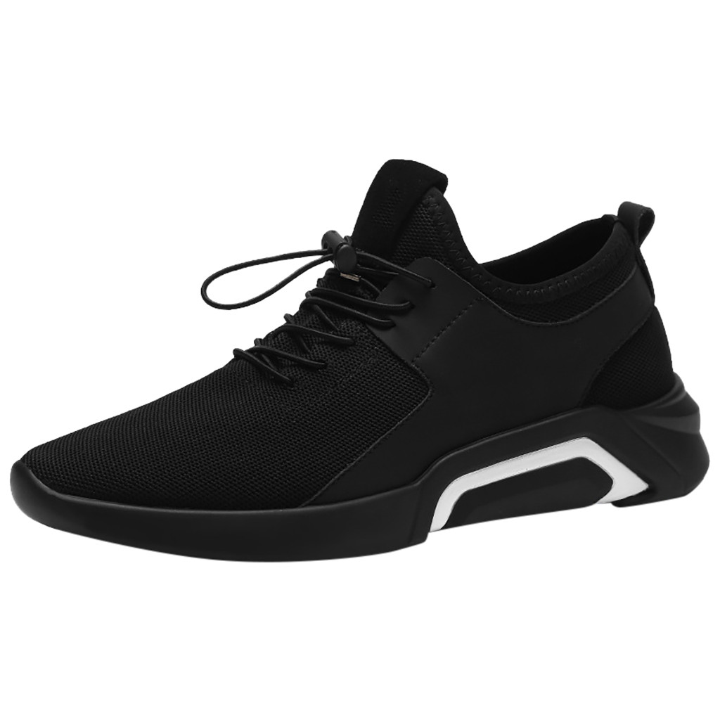 SAGACE Comfortable flats sneaker men shoes New arrival Breathable Board Sneakers Shoes men Fashion Non-slip lace-up sneaker 2019(China)